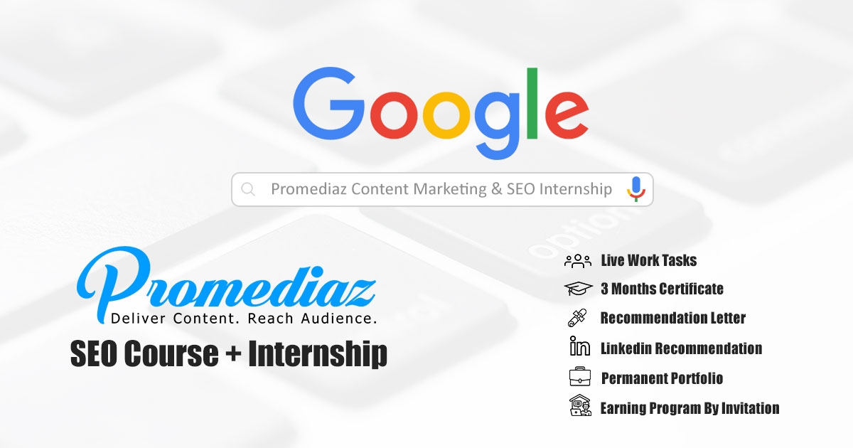 Promediaz SEO & Content Marketing Course & Internship